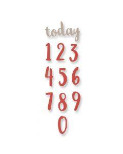 """Fustella Sizzix Thinlits """"Numeri a pennello"""" - 661726"""