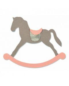 """Fustella Sizzix Bigz """"Cavallo a dondolo"""" - 661983"""