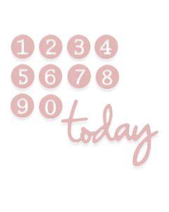 """Fustella Sizzix Thinlits """"Numeri per compleanno delicati"""" - 662577"""