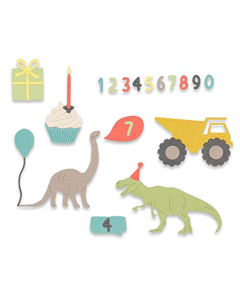 "Fustella Sizzix Thinlits ""Compleanno bambino"" - 662590"