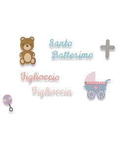 """Fustella SIzzix Thinlits """"Battesimo"""" - 662618"""