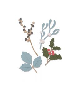 """Fustella Sizzix Thinlits """"Foglie invernali"""" - 663425"""