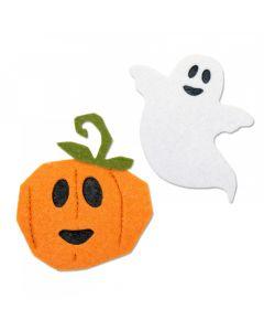 """Fustella Sizzix Bigz """"Felice Halloween, zucca e fantasma"""" - 663463"""