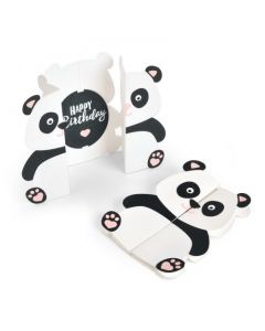 """Fustella Sizzix Thinlits """"Biglietto, Panda Fold-a-long"""" - 663574"""