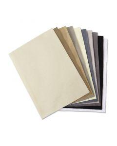 Set 10 fogli di feltro (colori neutri) formato A4 Sizzix - 663779