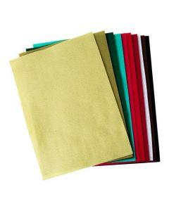 Set 10 fogli di feltro (colori festivi) formato A4 Sizzix - 663782