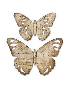 """Fustella Sizzix Bigz """"Farfalle effetto invecchiato"""" - 664166"""