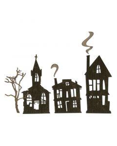 """Fustella Sizzix Thinlits """"Città fantasma"""" - 664194"""