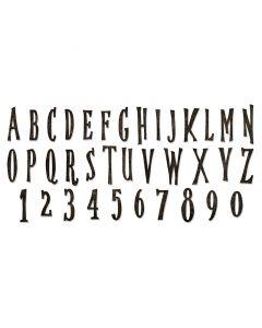 "Fustella Sizzix Bigz XL ""Alfabeto maiuscolo e numeri, Halloween"" - 664218"
