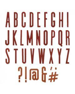 """Fustella Sizzix Thinlits """"Alfabeto classico maiuscolo"""" - 664223"""