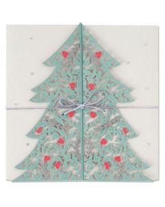 """Fustella Sizzix Thinlits """"Biglietto Albero di Natale"""" - 664467"""