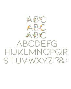 "Fustella Sizzix Thinlits ""Alfabeto Lettere decorative"" - 664477"