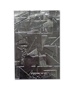 "Fustella Sizzix Embossing Folder 3D ""Disegno di triangoli"" - 664528"
