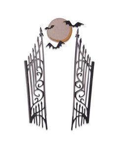 """Fustella Sizzix Thinlits """"Guardiano, cancello"""" - 664734"""