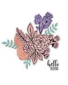 """Fustella Sizzix Framelits """"Mazzo di fiori"""" con timbri - 665064"""