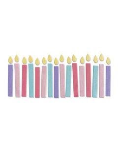 """Fustella Sizzix Thinlits """"Candeline di compleanno"""" - 665071"""