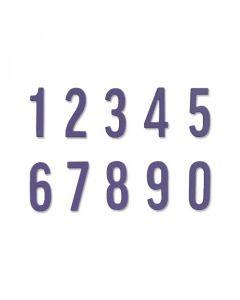 """Fustella Sizzix Thinlits """"Numeri in grassetto"""" - 665073"""