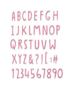 """Fustella Sizzix Thinlits """"Alfabeto effetto scritto a mano"""" - 665182"""