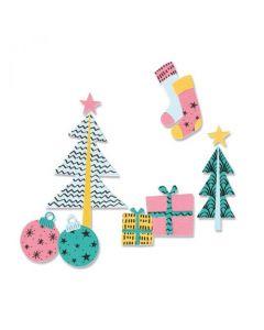 """Fustella Sizzix Framelits """"Natale alla moda"""" con timbri - 665332"""