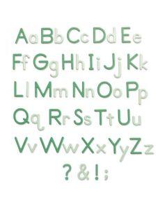 """Fustella Sizzix Thinlits """"Alfabeto, caratteri di forma semplice"""" - 665335"""