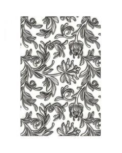 """Fustella Sizzix Mini Embossing Texture Fades 3D """"Mini botanico"""" - 665631"""