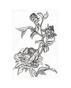 """Fustella Sizzix Mini Embossing Texture Fades 3D """"Mini rose"""" - 665632"""