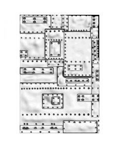 """Fustella Sizzix Mini Embossing Texture Fades 3D """"Mini fonderia"""" - 665634"""