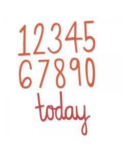 "Fustella Thinlits Sizzix ""Numeri compleanno"" - 661163"