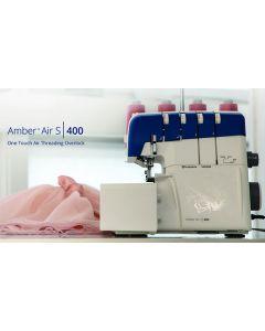 Taglia e cuci con infilatura ad aria Husqvarna Amber Air S400