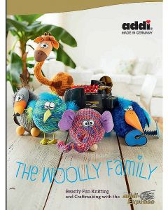 """Libro per mulinetto 22 aghi """"The Woolly Family"""" - Addi Express"""