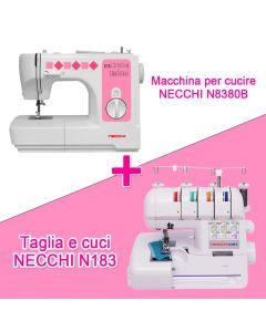 OFFERTA! Macchina per cucire Necchi N8380B + Tagliacuci Necchi N183