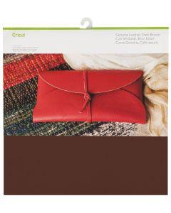Foglio Vera pelle Cricut 30,5 x 30,5 cm - Colore marrone scuro