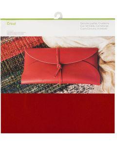 Foglio Vera pelle Cricut 30,5 x 30,5 cm - Colore mirtillo rosso